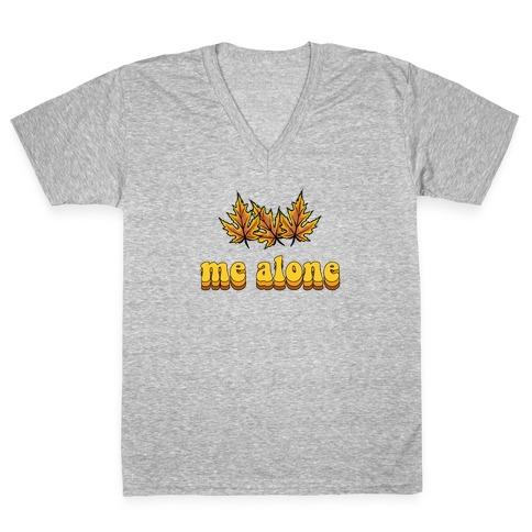 'Leaves' Me Alone V-Neck Tee Shirt