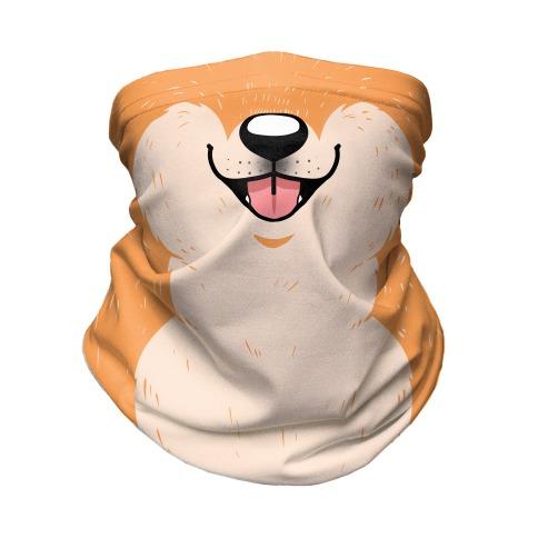 Shiba Inu Mouth Neck Gaiter