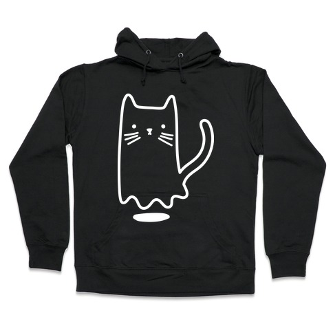 Ghost Cat (White) Hooded Sweatshirt