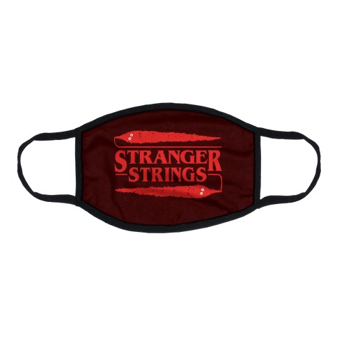 Stranger Strings Flat Face Mask