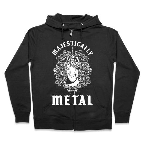 Majestically Metal Unicorn Zip Hoodie