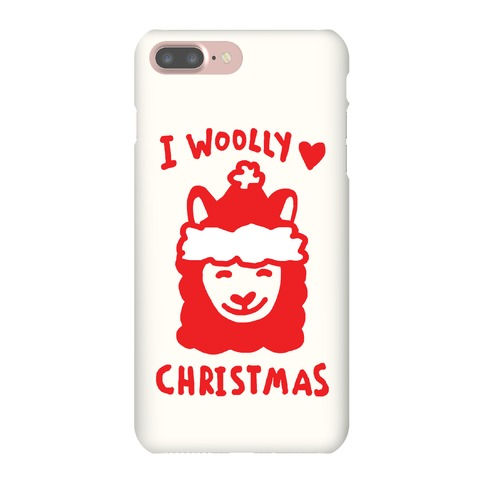 I Woolly Love Christmas Llama Phone Case
