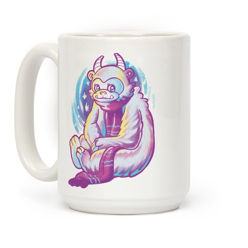 Neon Rainbow Yeti Coffee Mug
