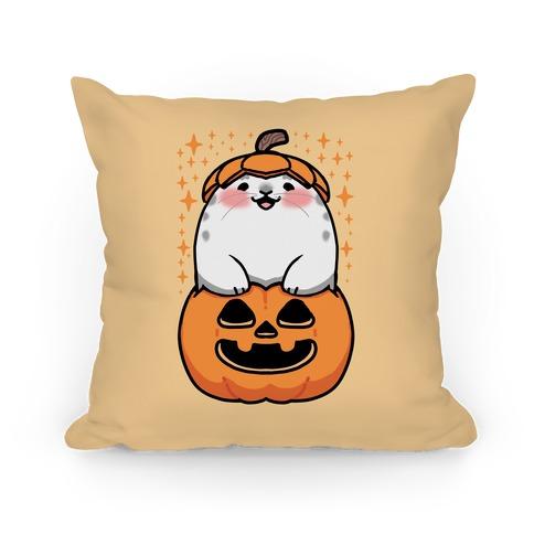 Cute Halloween Seal Pillow