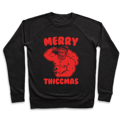Merry Thiccmas Parody White PRint