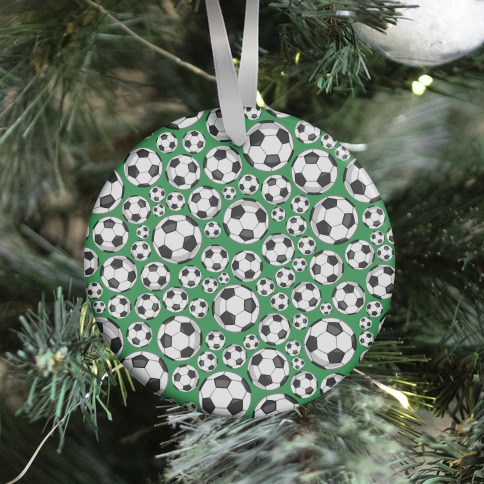 Soccer Balls Pattern Ornament