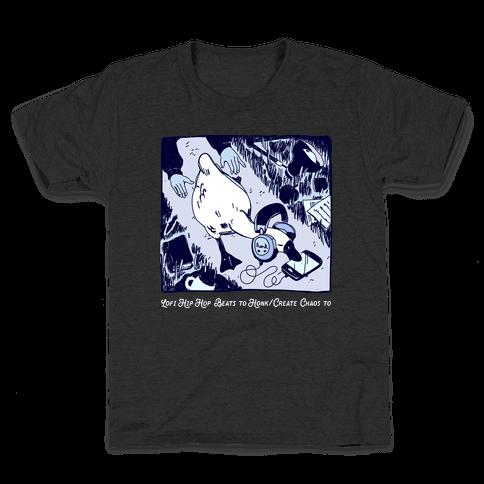 Lofi Hip Hop Goose Kids T-Shirt