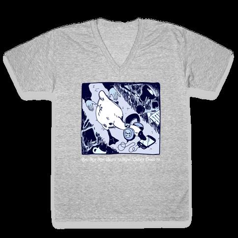Lofi Hip Hop Goose V-Neck Tee Shirt