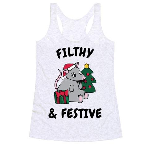 Filthy & Festive Racerback Tank Top