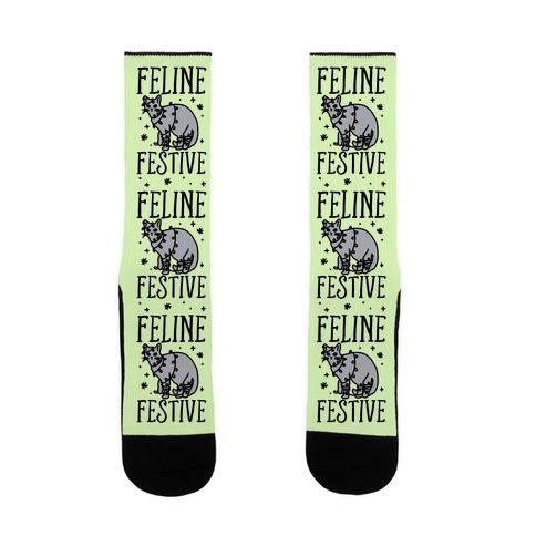 Feline Festive  Sock