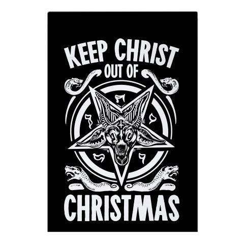 Keep Christ Out of Christmas Baphomet  Garden Flag