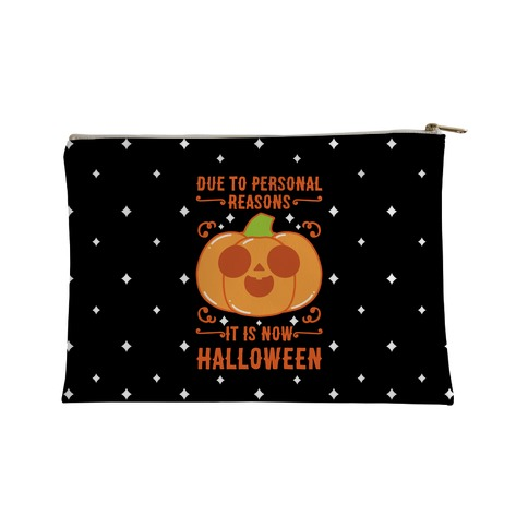 Due To Personal Reasons It Is Now Halloween Pumpkin (Orange) Accessory Bag