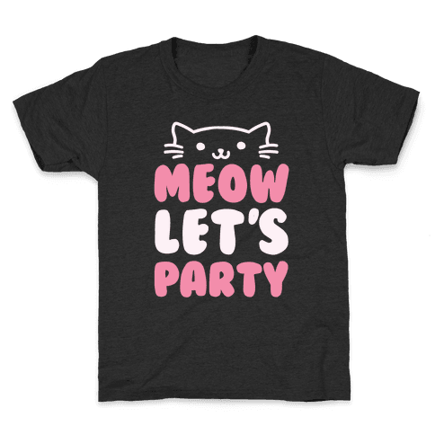 Meow Let's Party Kids T-Shirt