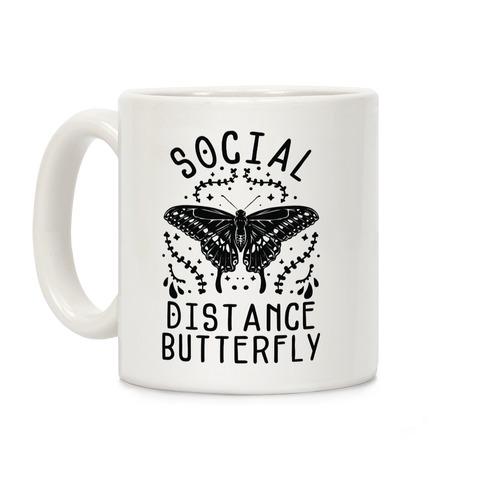 Social Distance Butterfly Coffee Mug