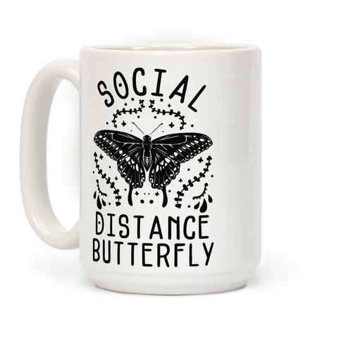 Social Distance Butterfly Coffee Mug