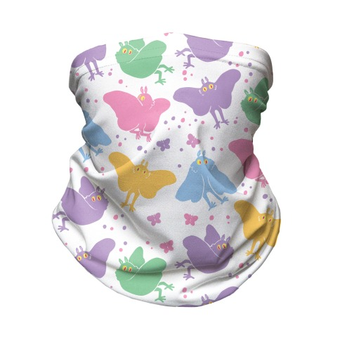 Cute Pastel Mothman Neck Gaiter