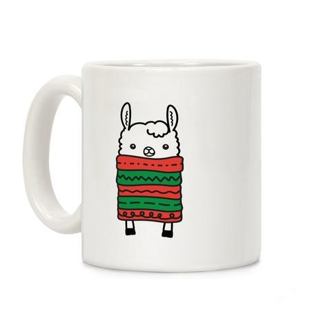 Long Llama Scarf Coffee Mug