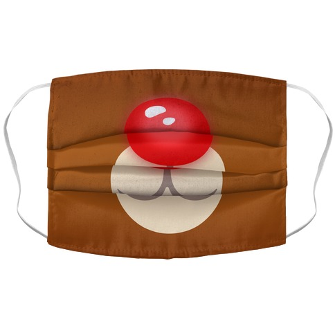 Rudolph Reindeer Face Accordion Face Mask