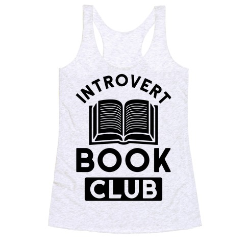 Introvert Book Club Racerback Tank Top