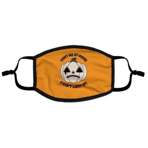 Light Me Up Inside Pumpkin Flat Face Mask