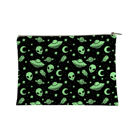 Aliens and UFO Cosmic Space Pattern Accessory Bag