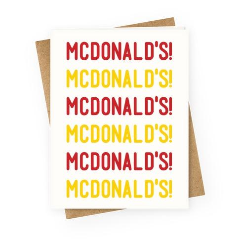 McDonald's McDonald's McDonald's Greeting Card
