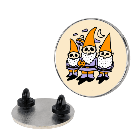 Happy Hall-Gnome-Ween (Halloween Gnomes) Pin