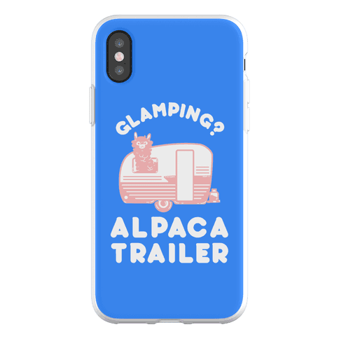 Glamping? Alpaca Trailer Phone Flexi-Case