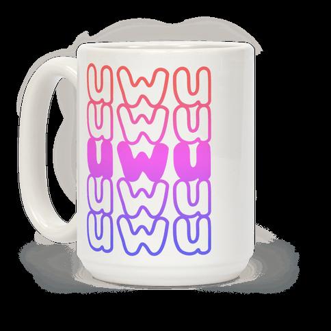 UWU Anime Emoticon Face Coffee Mug