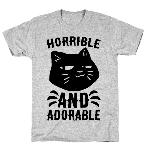 Horrible and Adorable - Cat T-Shirt