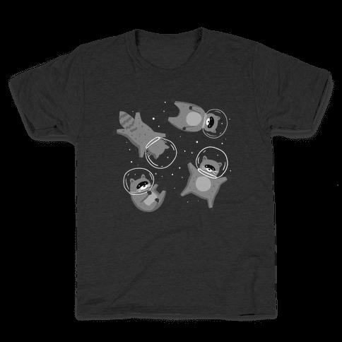 Raccoons In Space Kids T-Shirt