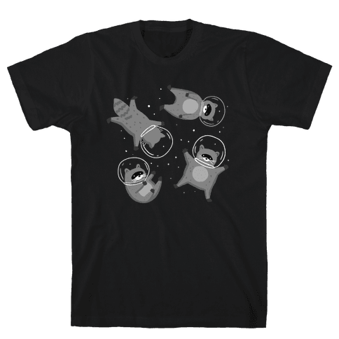 Raccoons In Space Mens/Unisex T-Shirt