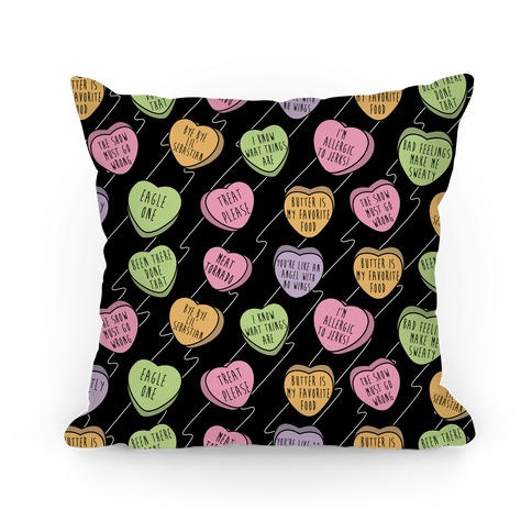 Andy Quotes Conversation Hearts Pillow