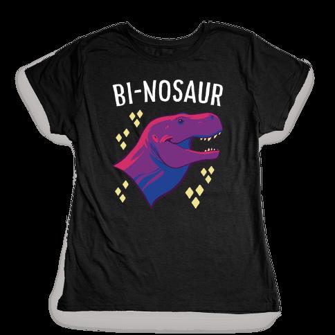 Bi-nosaur  Womens T-Shirt