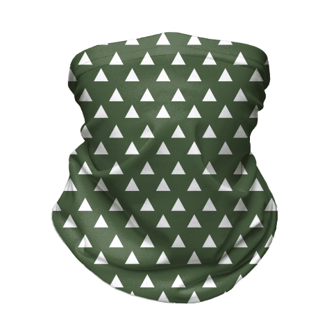 Triangle Chive and White Pattern Neck Gaiter