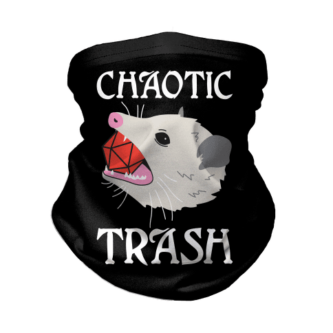 Chaotic Trash (Opossum) Neck Gaiter