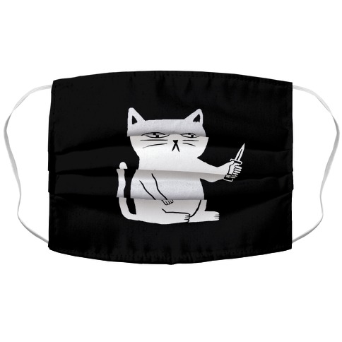 Stabby Cat Accordion Face Mask Lookhuman