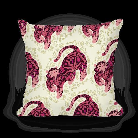 Floral Tiger Pillow