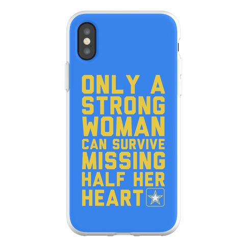 Only A Strong Woman Army Phone Flexi-Case