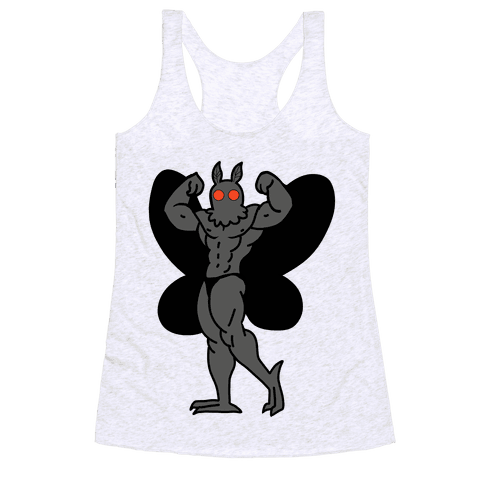 Buff cryptids: Mothman Racerback Tank Top