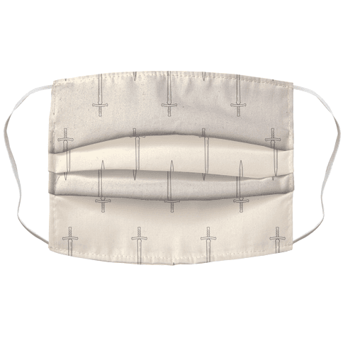 Swords Pattern Face Mask Cover