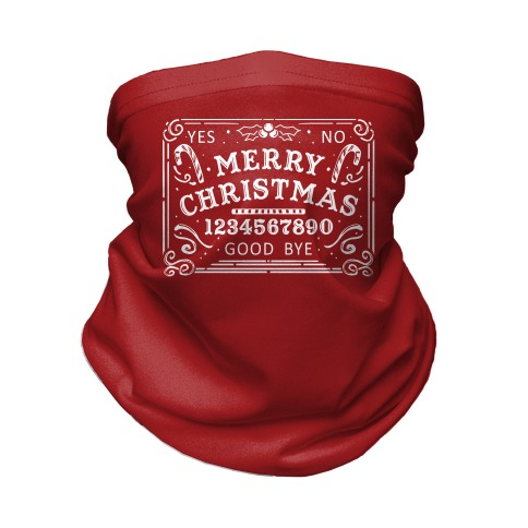 Merry Christmas Ouija Neck Gaiter