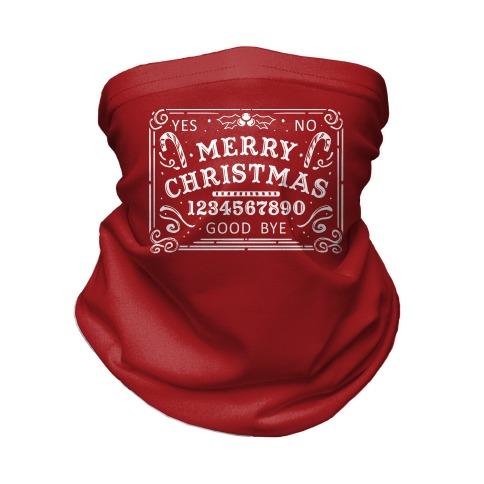 Merry Christmas Ouija Neck Gaiter
