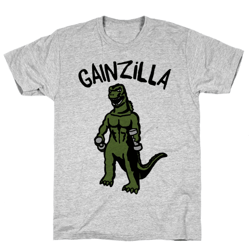 Gainzilla Lifting Parody Mens T-Shirt
