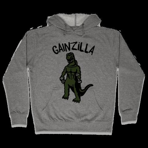 Gainzilla Lifting Parody Hooded Sweatshirt