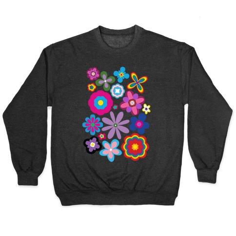 Hippie Pride Flower Pattern Pullover