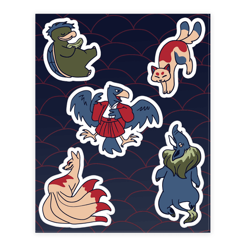 Yokai Guys  Sticker/Decal Sheet