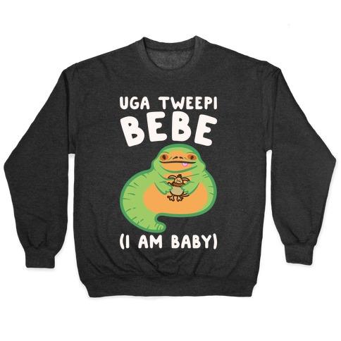 I Am Baby Jabba Parody White Print Pullover