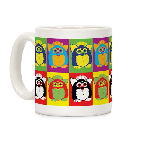 Furby Pop Art Pattern Coffee Mug