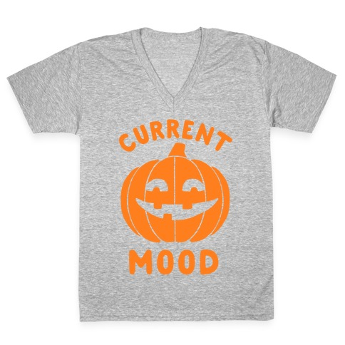 Current Mood: Halloween V-Neck Tee Shirt